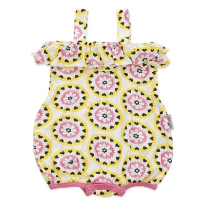 Silkberry Baby™ Size 3-6M Ruffle Romper in Yellow/Pink