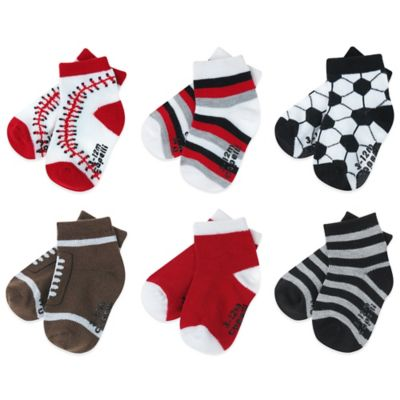 Capelli New York Size 3-12M 6-Pack Sports-Themed Socks
