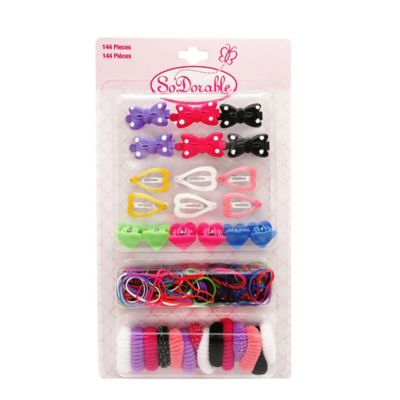 So'Dorable 144-Piece Hair Accessory Value Pack