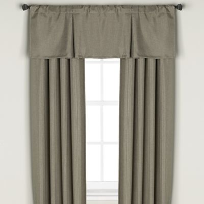 Bridgeport Window Curtain Valance in Khaki
