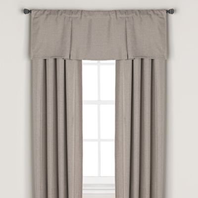 Bridgeport Rod Pocket/Back Tab 84-Inch Blackout Lining Window Curtain Panel in Grey
