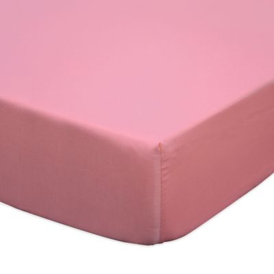 The Peanut Shell® Gia Fitted Crib Sheet in Coral
