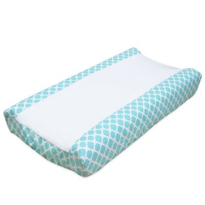 The Peanut Shell® Gia Changing Pad Cover in Aqua