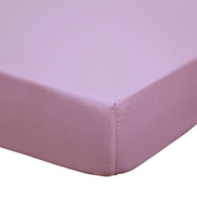 The Peanut Shell® Zoe Fitted Crib Sheet in Purple