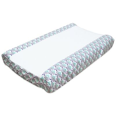 The Peanut Shell® Zoe Scallop Floral Changing Pad Cover