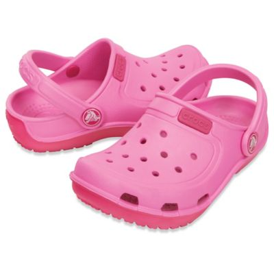 Crocs™ Size 5 Kids' Duet Wave Clog in Party Pink/Candy Pink