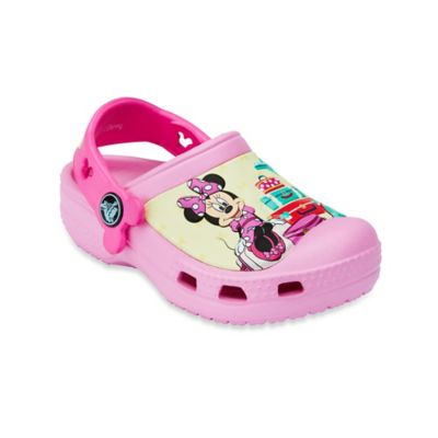 Creative Crocs Minnie™ Size 4-5 Jet Set Kids' Clog in Pink