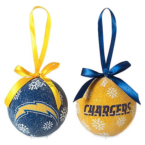 Nfl San Diego Chargers Led Lighted Christmas Ornament Set