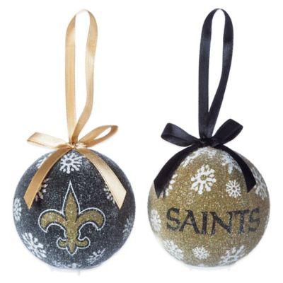 NFL New Orleans Saints LED Lighted Christmas Ornament Set (Set of 6)