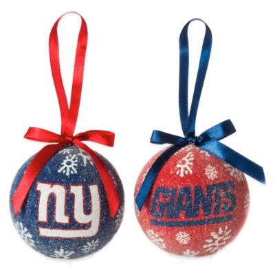 NFL New York Giants LED Lighted Christmas Ornament Set (Set of 6)