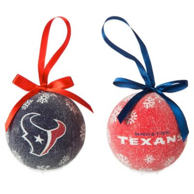 NFL Houston Texans LED Lighted Christmas Ornament Set (Set of 6)