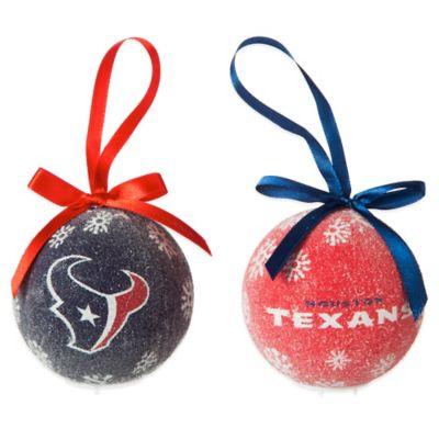 NFL Houston Texans LED Lighted Christmas Ornament Set (Set of 6)