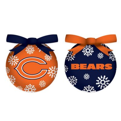NFL Chicago Bears LED Lighted Christmas Ornament Set (Set of 6)