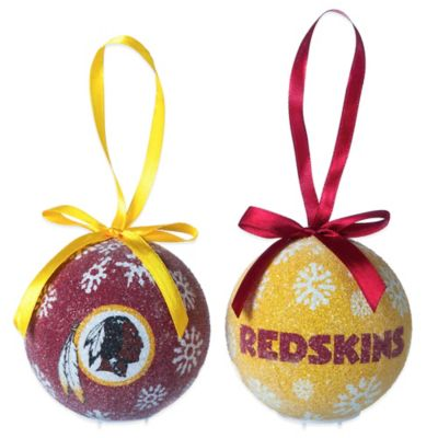 NFL Washington Redskins LED Lighted Christmas Ornament Set (Set of 6)