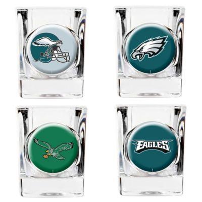 NFL Philadelphia Eagles Collector's Shot Glasses (Set of 4)