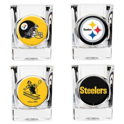 NFL Pittsburgh Steelers Collector's Shot Glasses (Set of 4)
