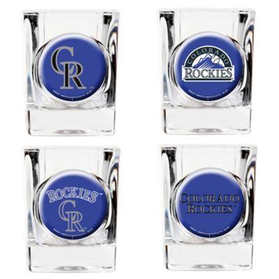 MLB Colorado Rockies Collector's Shot Glasses (Set of 4)