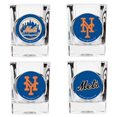 MLB New York Mets Collector's Shot Glasses (Set of 4)
