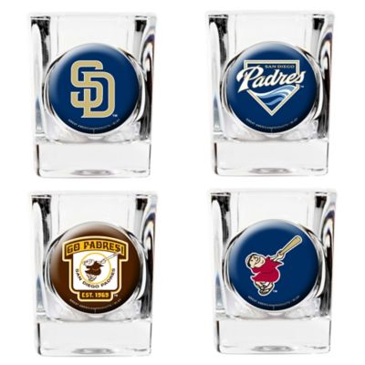 MLB San Diego Padres Collector's Shot Glasses (Set of 4)
