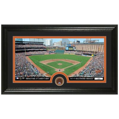 MLB Baltimore Orioles Dirt Coin Panoramic Photo Mint