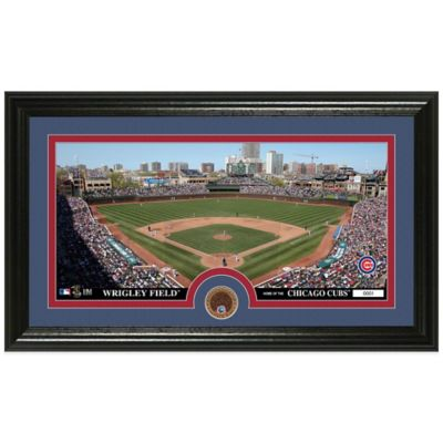 MLB Chicago Cubs Dirt Coin Panoramic Photo Mint