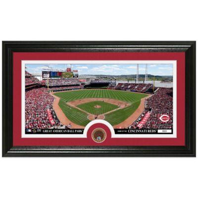 MLB Cincinnati Reds Dirt Coin Panoramic Photo Mint