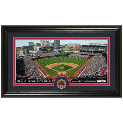 MLB Cleveland Indians Dirt Coin Panoramic Photo Mint