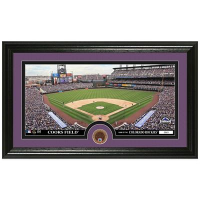 MLB Colorado Rockies Dirt Coin Panoramic Photo Mint
