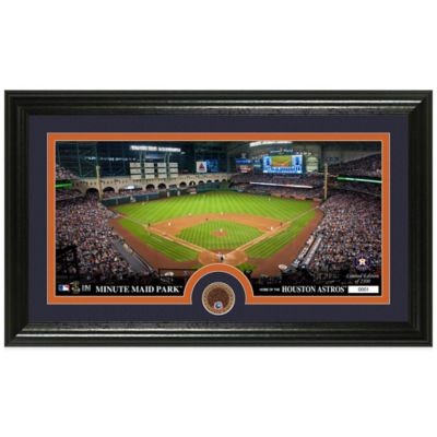 MLB Houston Astros Dirt Coin Panoramic Photo Mint