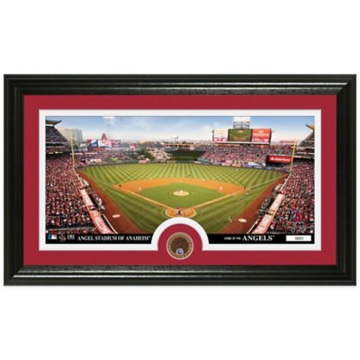 MLB Los Angeles Angels Dirt Coin Panoramic Photo Mint