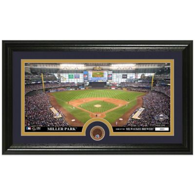 MLB Milwaukee Brewers Dirt Coin Panoramic Photo Mint
