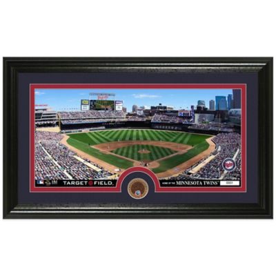MLB Minnesota Twins Dirt Coin Panoramic Photo Mint