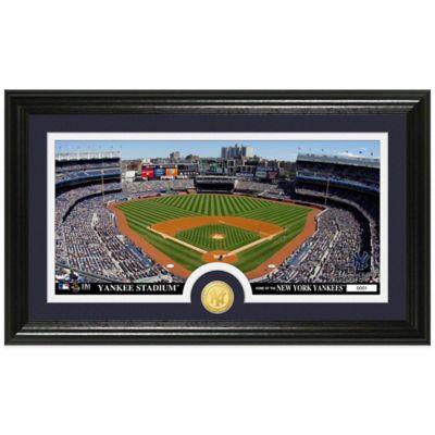 MLB New York Yankees Dirt Coin Panoramic Photo Mint