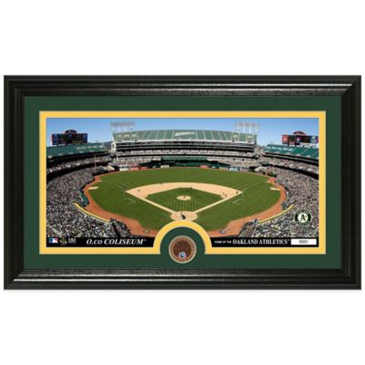 MLB Oakland Athletics Dirt Coin Panoramic Photo Mint