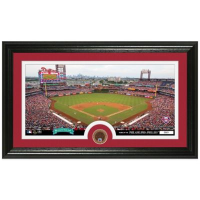 MLB Philadelphia Phillies Dirt Coin Panoramic Photo Mint