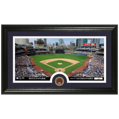 MLB San Diego Padres Dirt Coin Panoramic Photo Mint