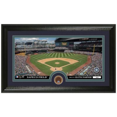 MLB Seattle Mariners Dirt Coin Panoramic Photo Mint