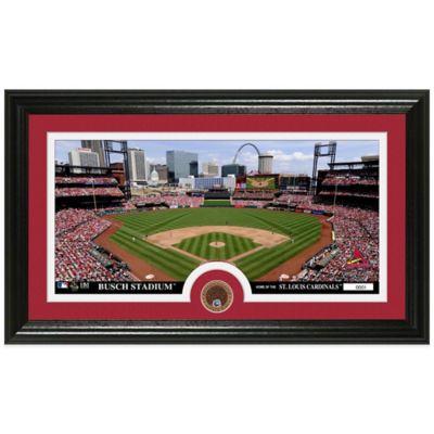 MLB St. Louis Cardinals Dirt Coin Panoramic Photo Mint