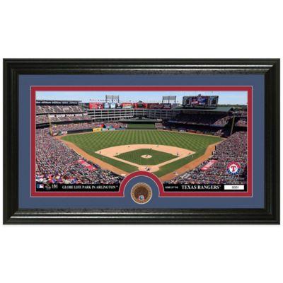 MLB Texas Rangers Dirt Coin Panoramic Photo Mint