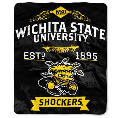 Wichita State University Plush Raschel Throw Blanket