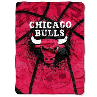 NBA Chicago Bulls Shadow Play Raschel Oversized Throw Blanket