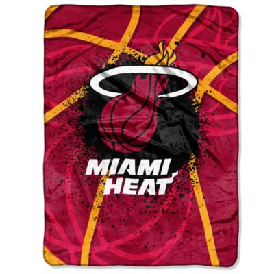 NBA Miami Heat Shadow Play Raschel Oversized Throw Blanket