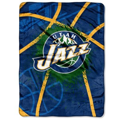 NBA Utah Jazz Shadow Play Raschel Oversized Throw Blanket
