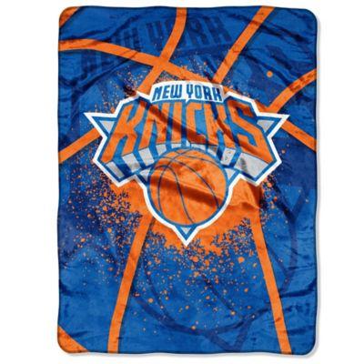 NBA New York Knicks Shadow Play Raschel Oversized Throw Blanket