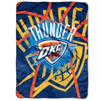 NBA Oklahoma City Thunder Shadow Play Raschel Oversized Throw Blanket