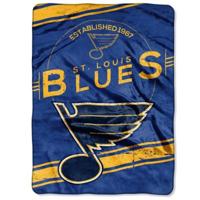 NHL St. Louis Blues Stamp Raschel Oversized Throw Blanket
