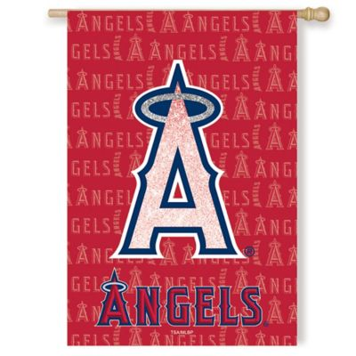 MLB Los Angeles Angels Double-Sided Vertical Glitter Flag