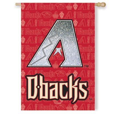 MLB Arizona Diamondbacks Double-Sided Vertical Glitter Flag