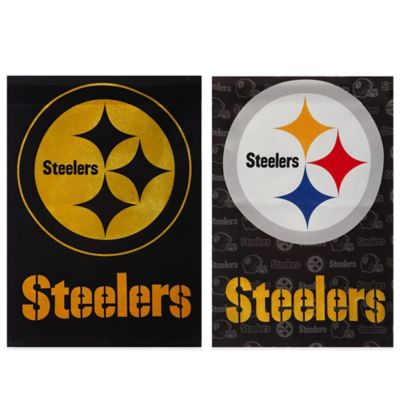 NFL Pittsburgh Steelers Double-Sided Vertical Glitter Flag