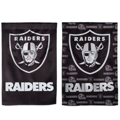 NFL Oakland Raiders Double-Sided Vertical Glitter Flag